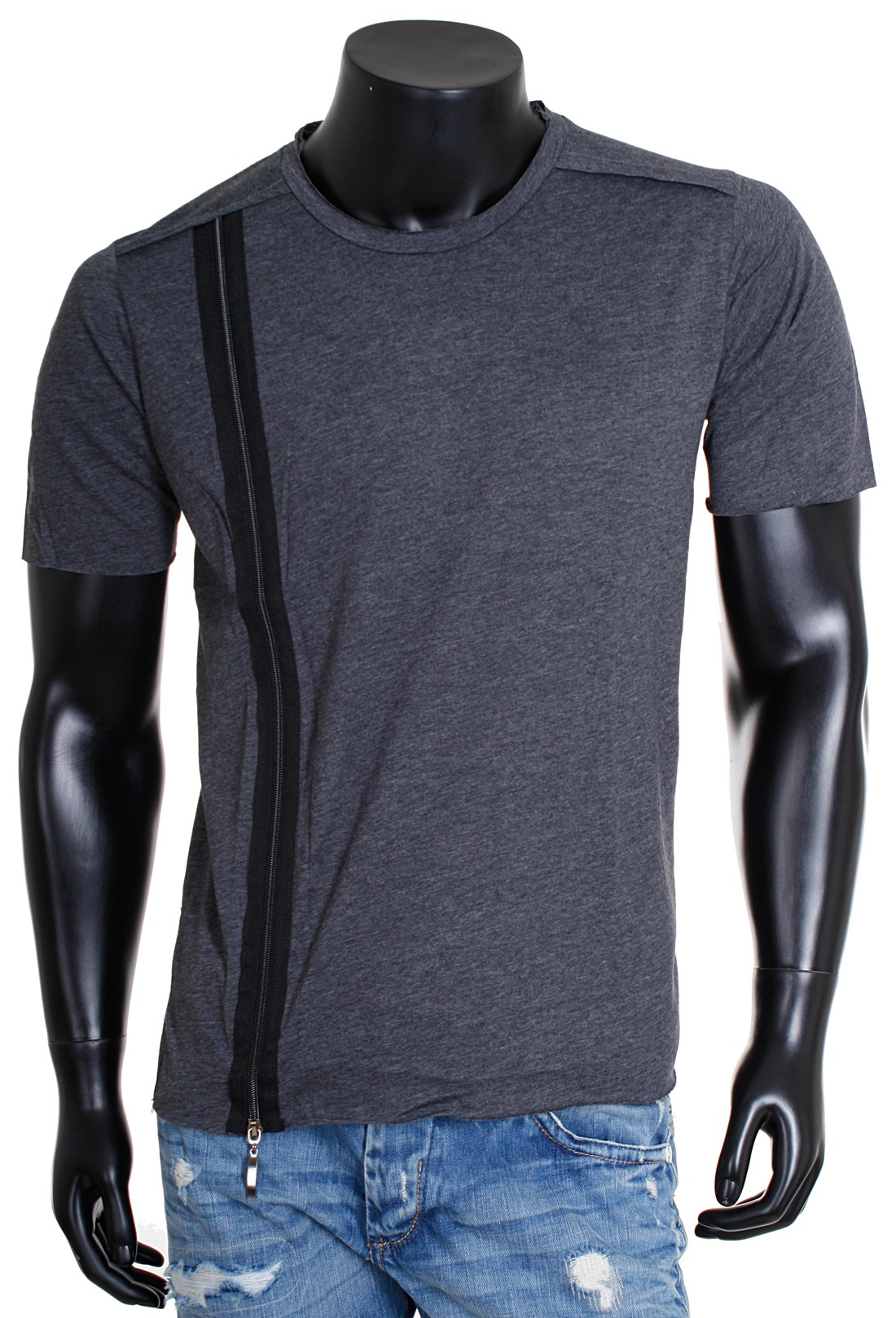 rerock oversized herren t shirt lang longshirt tee mit zipper. Black Bedroom Furniture Sets. Home Design Ideas