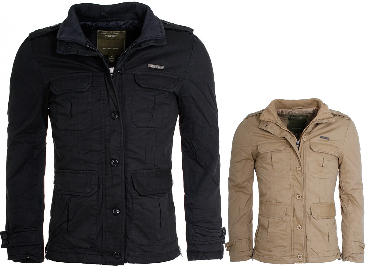 Young & Rich Jacke Military Parka Look slimfit ...