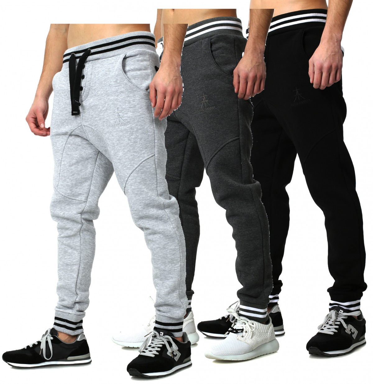 akito tanaka herren baggy sweatpants freizeit jogging. Black Bedroom Furniture Sets. Home Design Ideas
