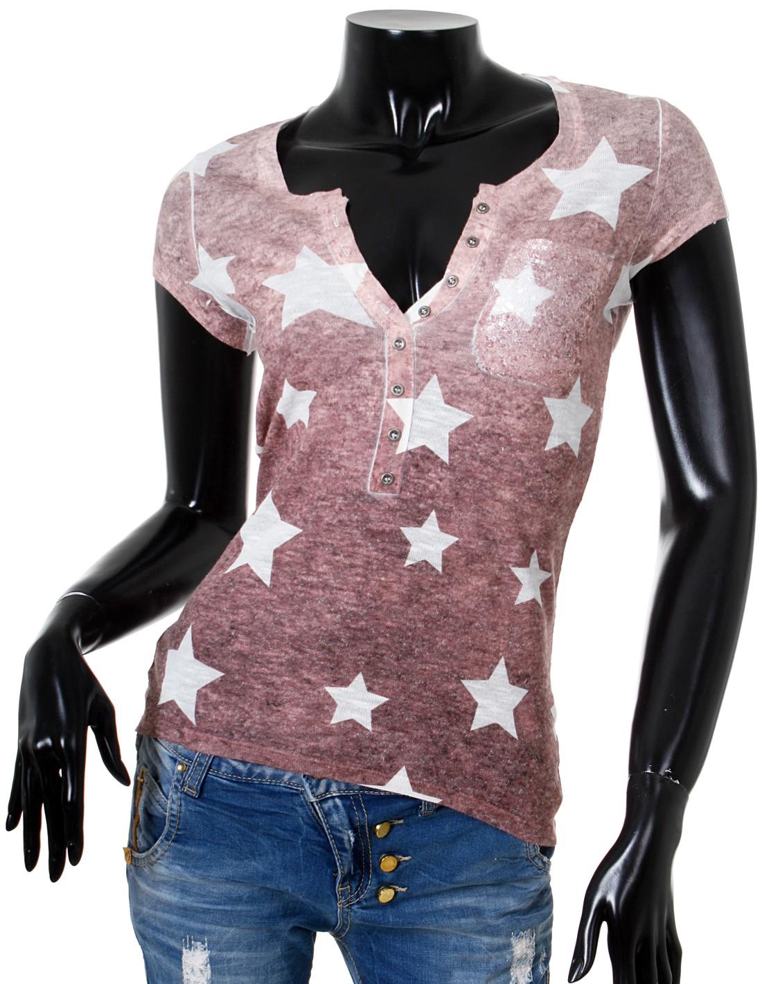 Key largo damen t shirt top shooting knopfleiste vintage - Ebay sterne ...