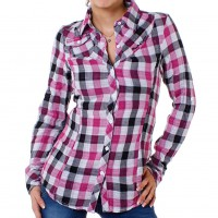 M.O.D by Monopol Damen Bluse WI10-BL33 pink checked