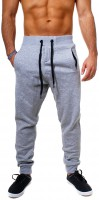 Young & Rich Herren Baggy Freizeithose Sporthose Sweatpants Jogginghose Trainingshose tief sitzend drop crotch low