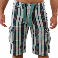 MOD by Monopol Shorts BACKYARD green checked M.O.D SP11-BS57