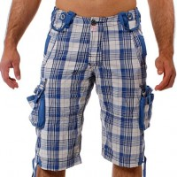 M.O.D by Monopol Shorts VOYAGER marine offwhite checked SU11-BS55
