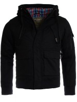 Young & Rich Herren Winter Jacke mit Kapuze Winterjacke hooded slimfit gefüttert 812-4003