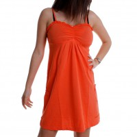 M.O.D by Monopol Damen Minikleid SS09-TO05 coral orange