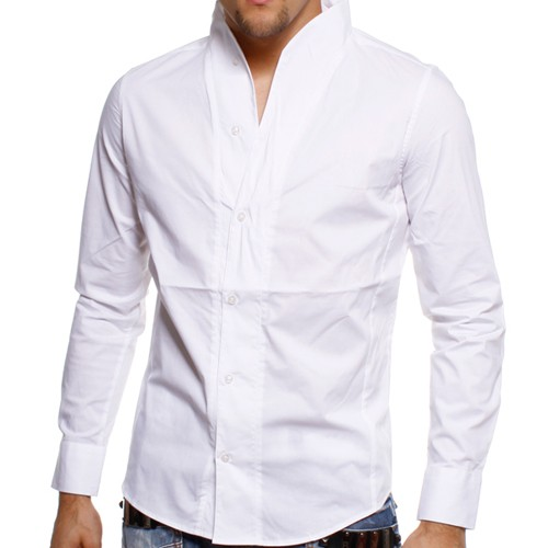 carisma herren stehkragen party hemd edged wei white h 902 ebay. Black Bedroom Furniture Sets. Home Design Ideas
