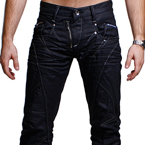 cipo baxx herren trend jeans hose western schwarz c 812. Black Bedroom Furniture Sets. Home Design Ideas