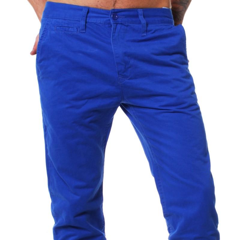 Blaue stoffhose manner