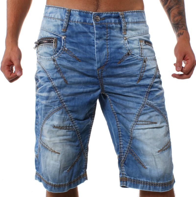 cipo baxx herren vintage jeans shorts capri hose kurz dust blau c 90. Black Bedroom Furniture Sets. Home Design Ideas