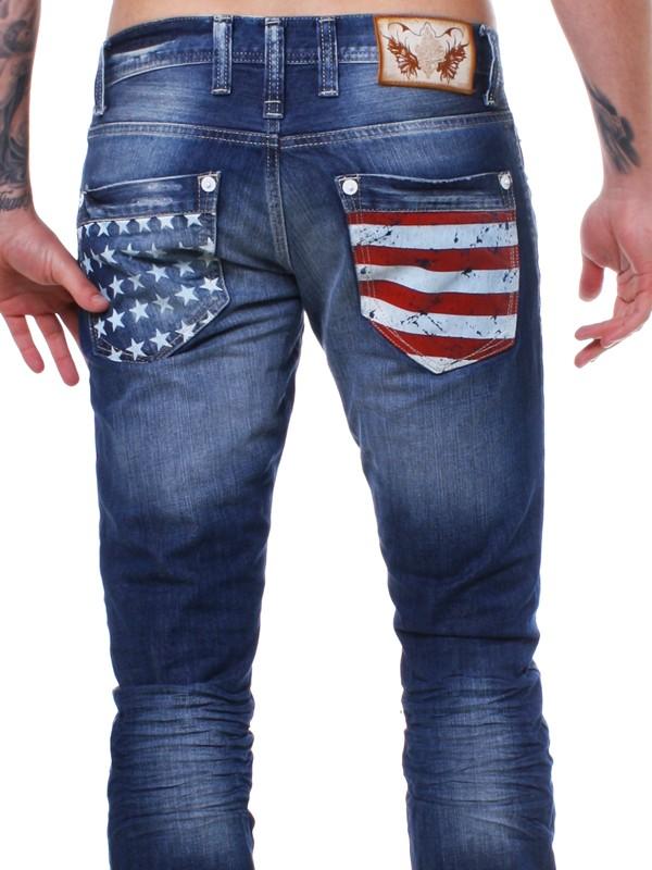 rerock herren usa destroyed vintage amerika jeans hose. Black Bedroom Furniture Sets. Home Design Ideas