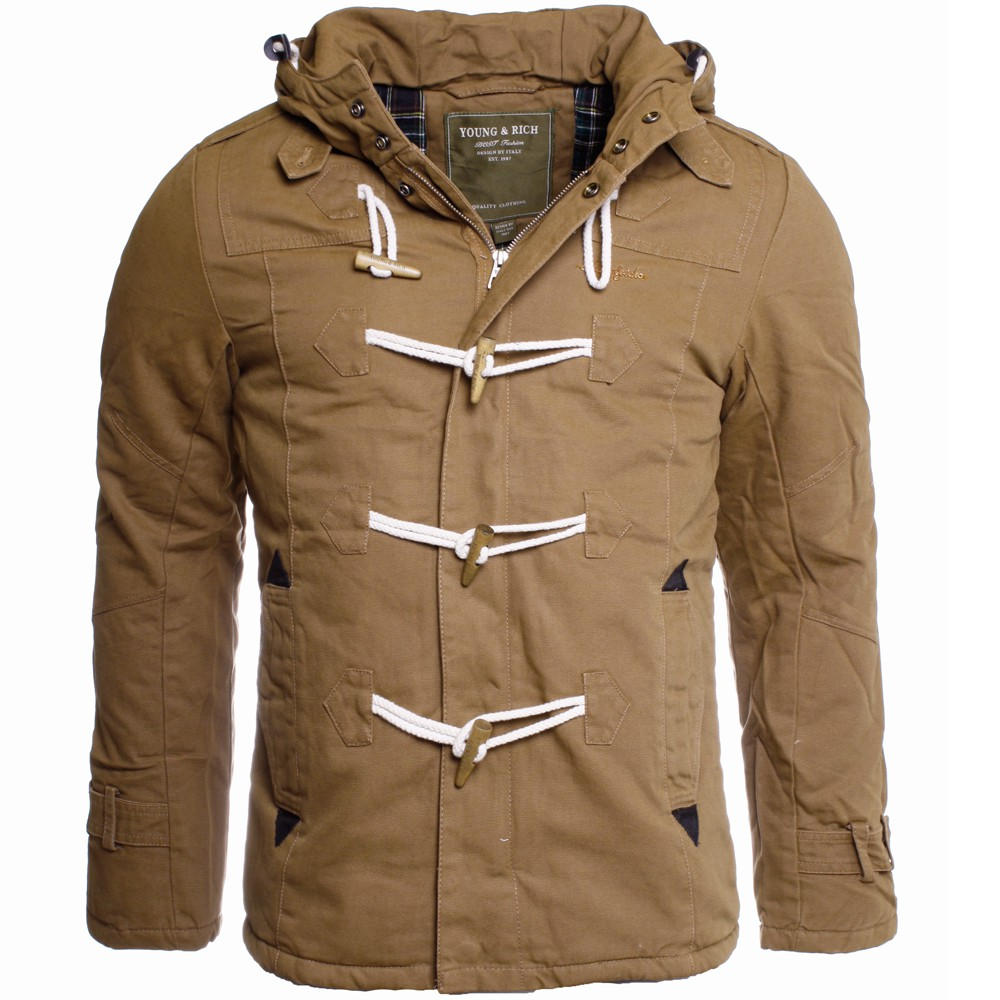 young rich herren warme winter jacke dufflecoat kurzmantel gef ttert jk 414 ebay. Black Bedroom Furniture Sets. Home Design Ideas