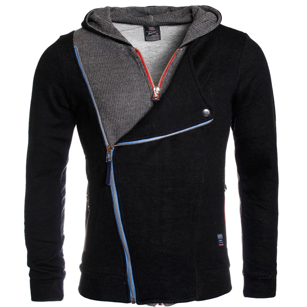 herren sweatjacke r 31405 sweatshirt mit kapuze cardigan slimfit. Black Bedroom Furniture Sets. Home Design Ideas