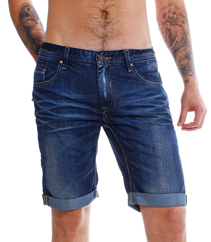 shine original herren jeans shorts 2 55011jui dunkelblau vintage capri hose kurz ebay. Black Bedroom Furniture Sets. Home Design Ideas