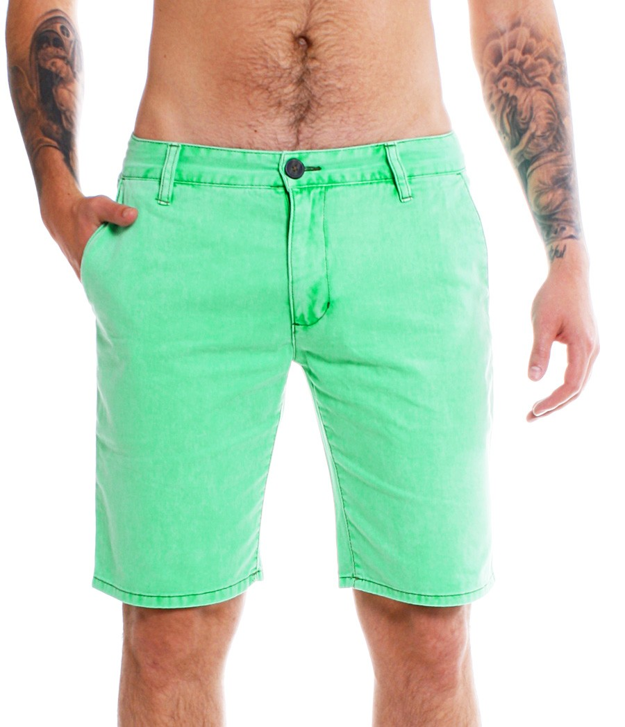 shine original herren jeans chino shorts 2 58007a neon. Black Bedroom Furniture Sets. Home Design Ideas