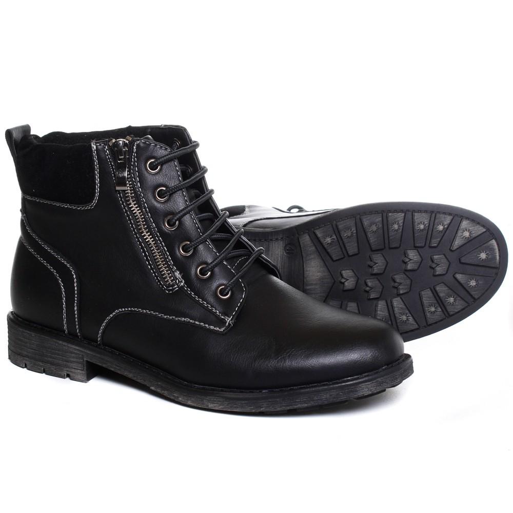 clowse herren kunstleder boots halbstiefel schuhe seitlicher rei verschluss 1m91 ebay. Black Bedroom Furniture Sets. Home Design Ideas