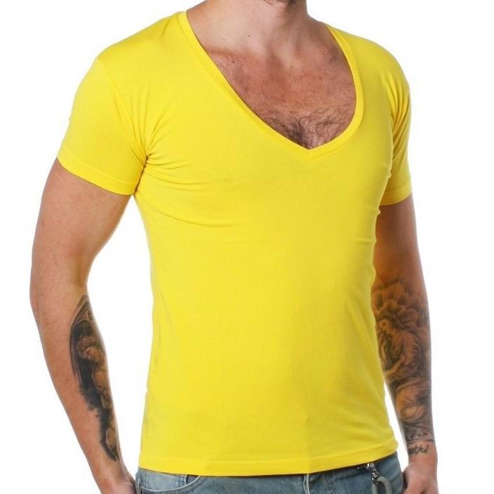 rerock herren uni t shirt mit tiefem v ausschnitt slimfit einfarbig fitness 1315 ebay. Black Bedroom Furniture Sets. Home Design Ideas
