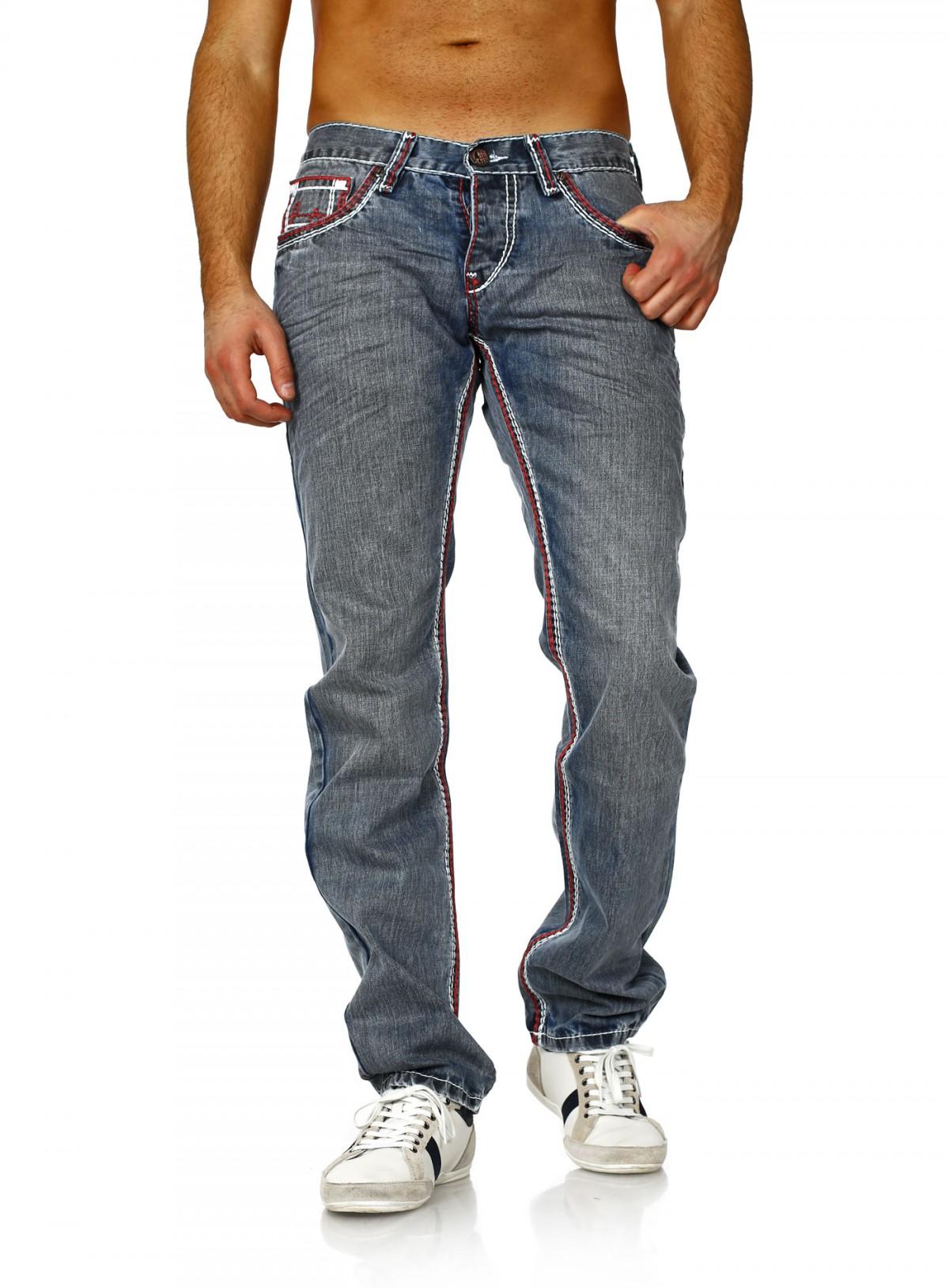 amica jeans hose straight legs vintage look kontrast n hte f r herren m nner ebay. Black Bedroom Furniture Sets. Home Design Ideas